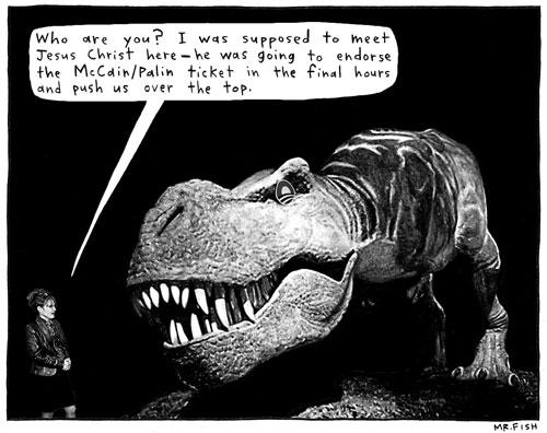 Palin and T-rex