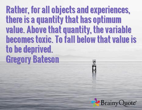 Bateson quote balance