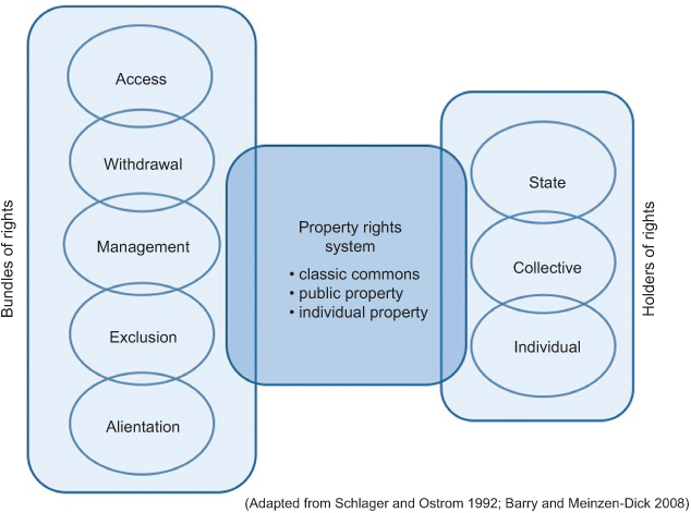 Bundles, Systems, and Holders of Property Rights (Schlager and Ostrom 1992)
