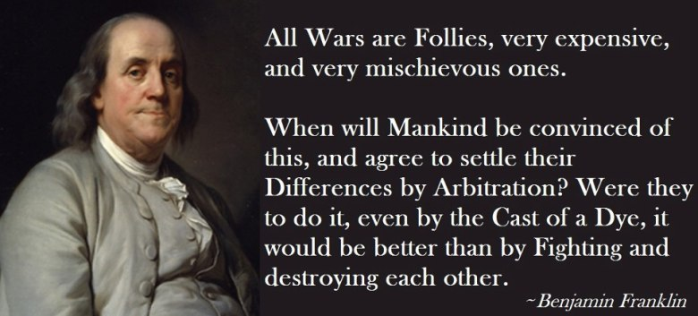 Ben Franklin on war